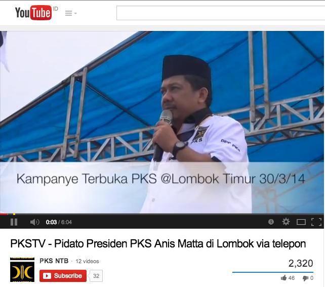 Kampanye PKS di Lombok